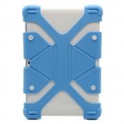 Универсальный силиконовый чехол для планшета с диагональю 7-8 дюймов (Голубой)