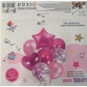 шарики фонтан набор розовый (18''/45 см) , 5шт.