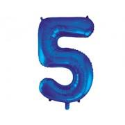 Шар (34''/86 см) Цифра 5 (синий) .в упаковке 1 шт
