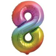 Шар ЯРКАЯ РАДУГА ГРАДИЕНТ Цифра Восемь 34 86