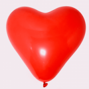 Воздушный шар сердце красный пастель 50 30 см