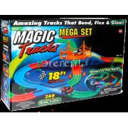 Светящийся Magic Tracks 360 деталей +2 гоночная машинка коробка 24 шт