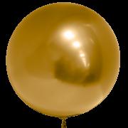 воздушный шар 3D бобо Deco Bubble хромированные 22 /55 см , золота