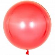 воздушный шар 3D бобо Deco Bubble хромированные 22 /55 см , красный