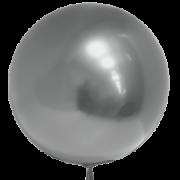 воздушный шар 3D бобо Deco Bubble хромированные 22 /55 см , серебро