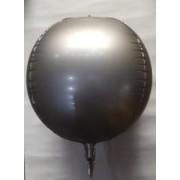 воздушный шар 3D фольга хромированные 22 /56 см , серебро