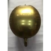 воздушный шар 3D фольга хромированные 22 /56 см , золота