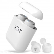 Наушники TWS X3T bluetooth 5.0 Touch Twice с сенсорным управлением (Белый)