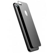 Защитное стекло 3D 5D на заднюю панель корпуса iphone 7 plus iphone 8 plus (Черный)