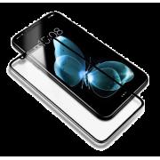 Защитное изогнутое закаленное стекло 9H для IPHONE X XS 3D 5D полное покрытие (черное)