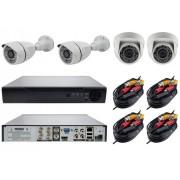 Комплект видеонаблюдение 4 камеры 2MP с технологией AHD