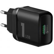 Зарядное устройство Rock Space T12 Single Port QC3.0 Travel Charger (Черный)