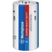 Солевая батарейка Westinghouse R20 D Super Heavy Duty-BP2