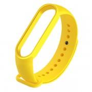 Сменный браслет Xiaomi Mi Band 5 однотонный (Желтый)