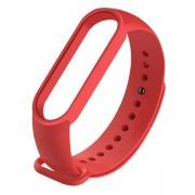 Сменный браслет Xiaomi Mi Band 5 однотонный (Красный)