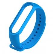 Сменный браслет Xiaomi Mi Band 5 однотонный (Синий)