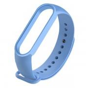 Сменный браслет Xiaomi Mi Band 5 однотонный (Голубой)