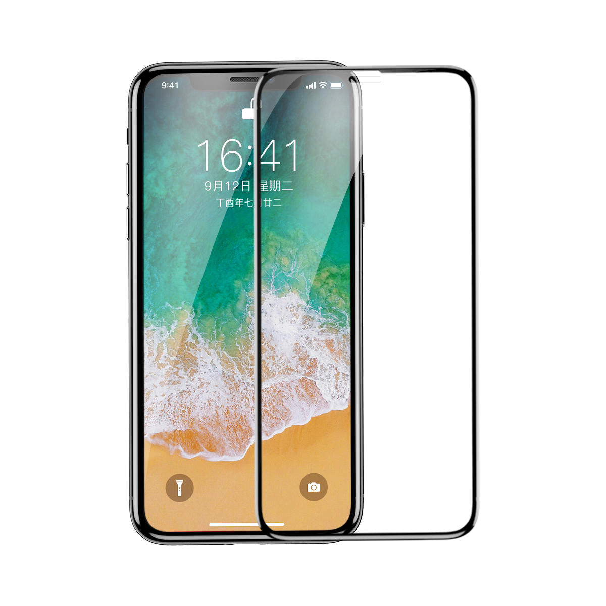 Защитное стекло Baseus 0.3mm Diamond Body All-screen Arc-surface Tempered Glass Film For iPhone X/XS SGAPIPHX-AJG01 (Черный)