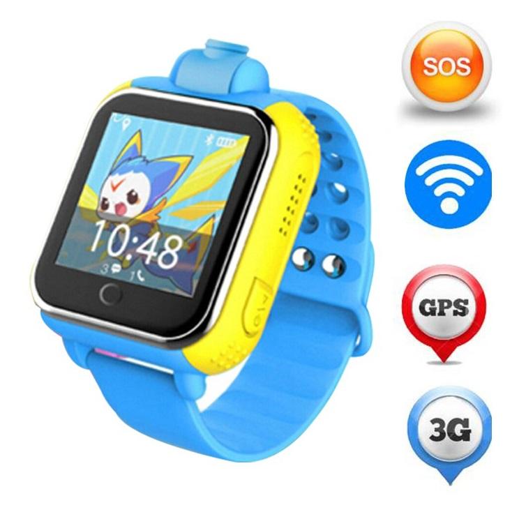 Умные детские часы Smart Baby Watch Q75 с GPS Q200 TD-07 с камерой и 3G (Голубой)