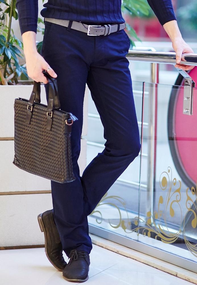 Стильные мужские брюки синие