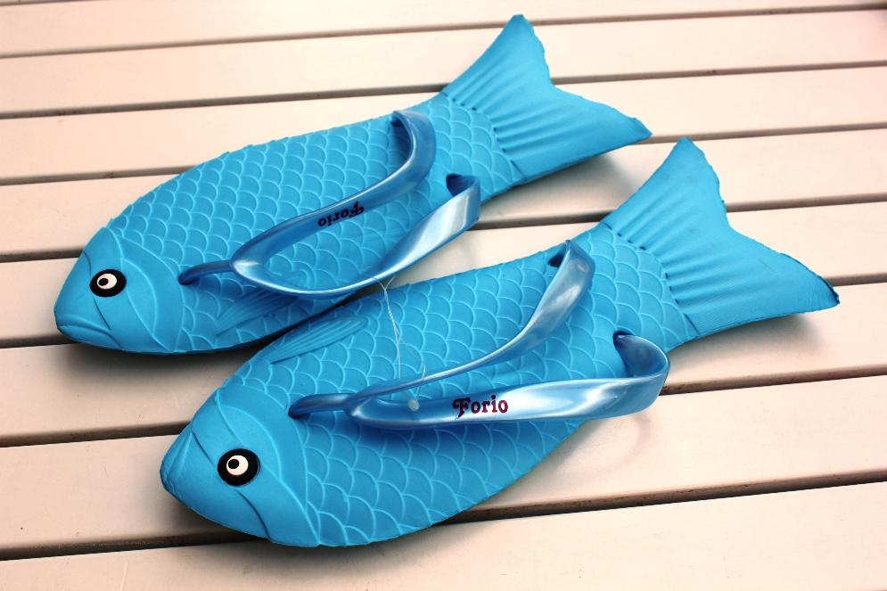 Стильные вьетнамки в форме рыбок