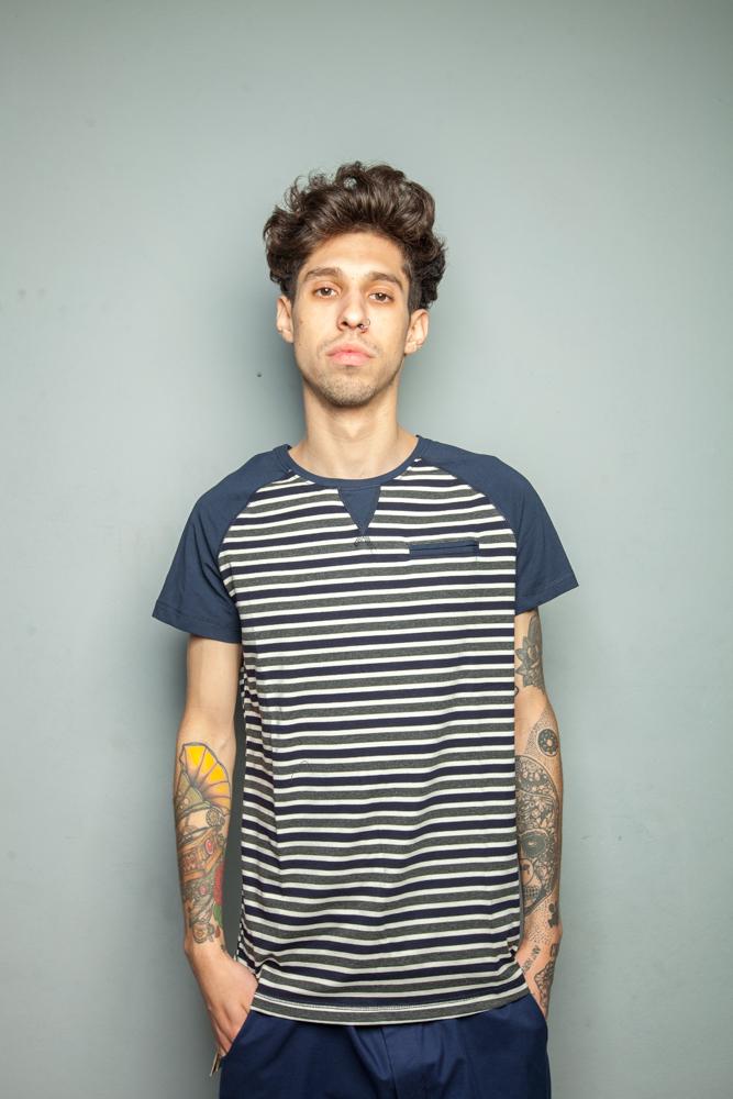 Стильная мужская футболка поло полоска