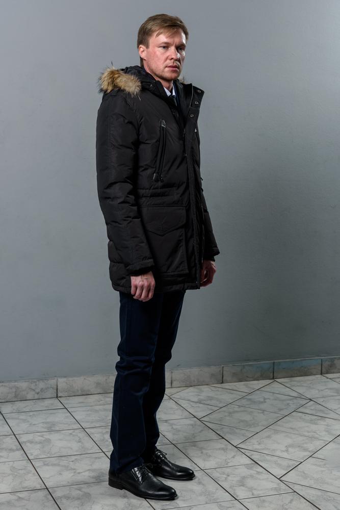 Стильная мужская черная куртка модель 3