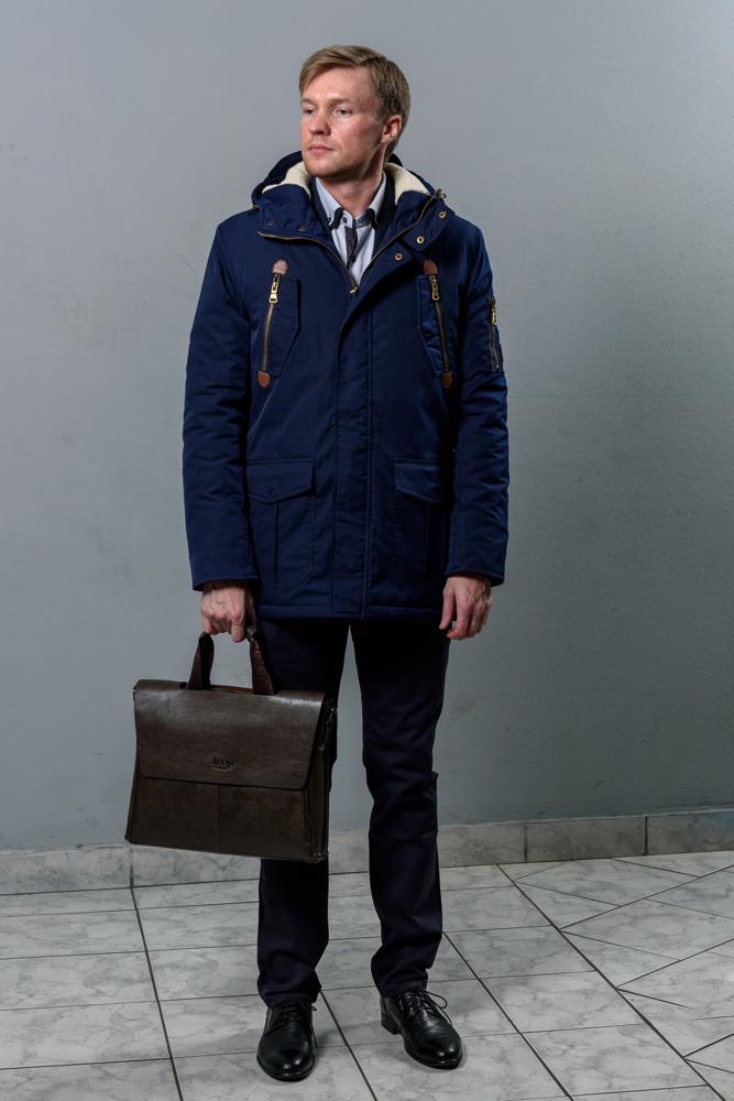 Стильная мужская синяя куртка модель 3