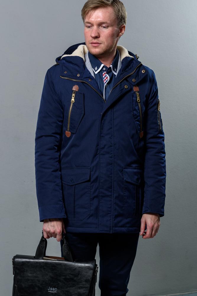 Стильная мужская синяя куртка модель 5