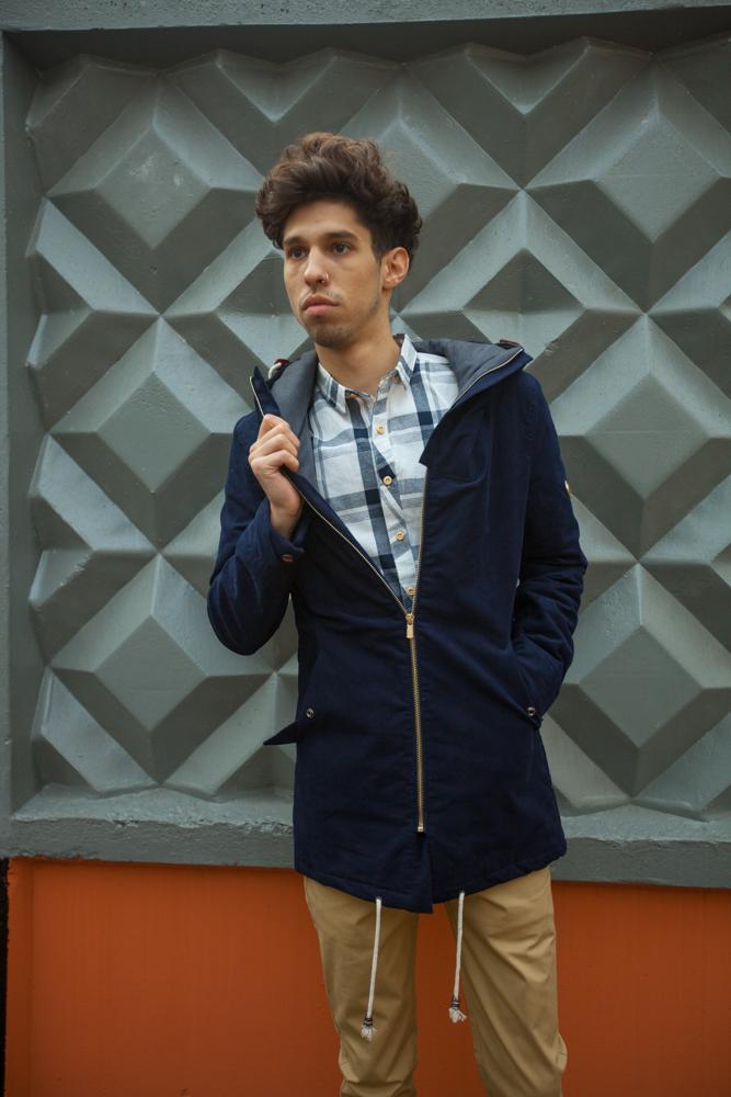 Куртка парка синяя