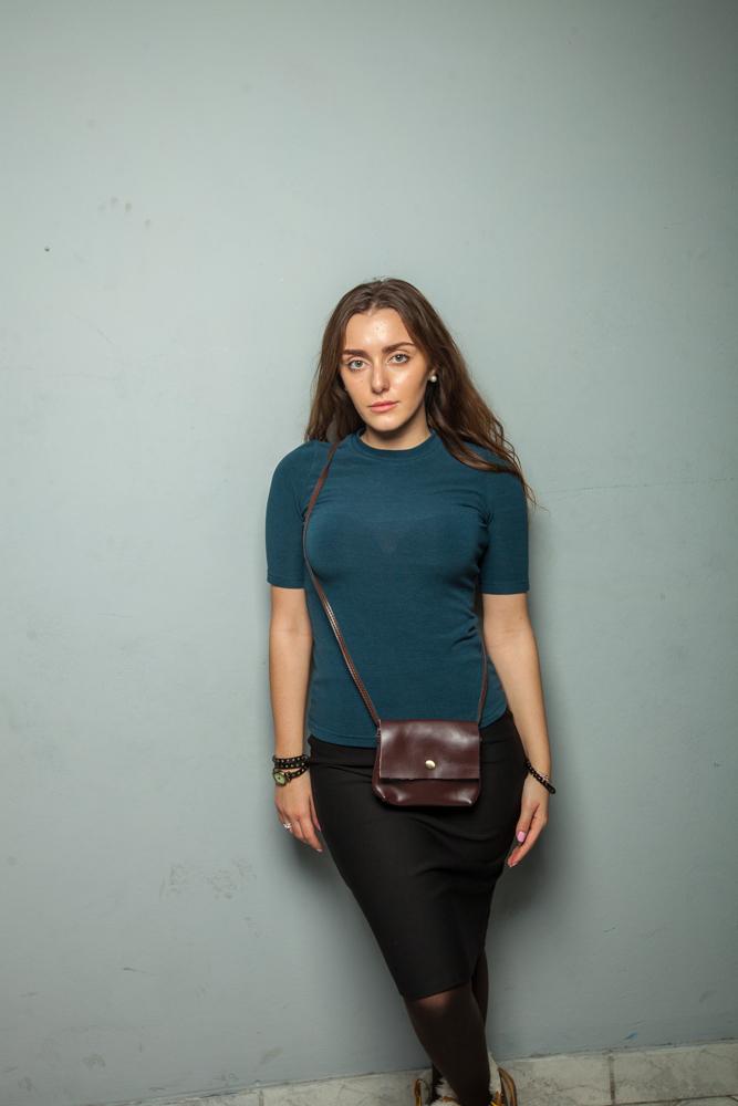 Стильная женская кофта синяя
