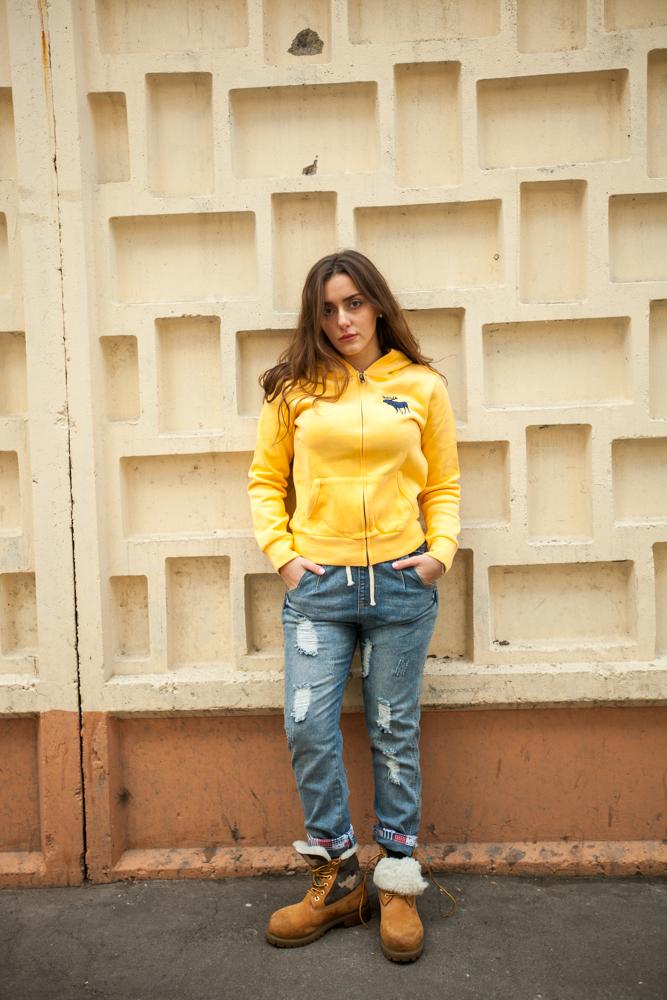 Стильные женские джинсы Boyfriend модель 1