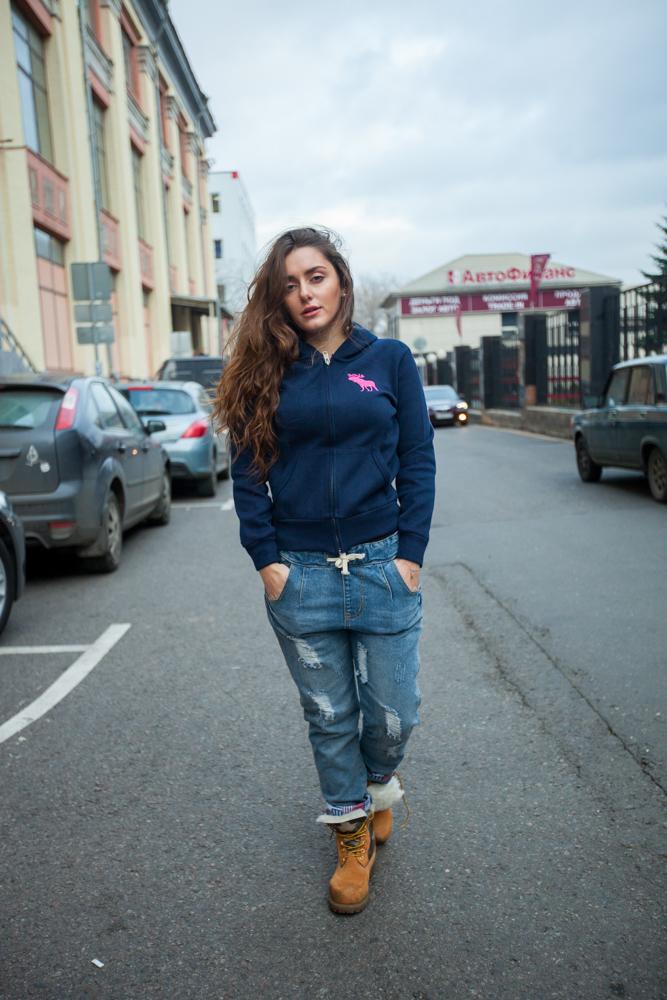 Стильные женские джинсы Boyfriend модель 2