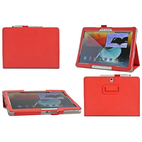Чехол книжка для планшета Samsung Galaxy Note 10.1 2014 Edition P6000, P6010, P6020, P6050 (Красный)