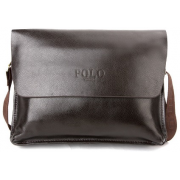Сумка портфель мужская для ноутбука, документов Polo (Коричневый)