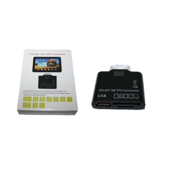 Мобильный картридер переходник USB для Samsung Galaxy Tab 5 в 1 (Черный)