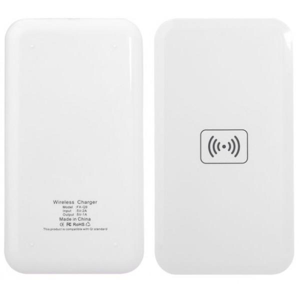 Беспроводное зарядное устройство Qi Wireless Charging + Power Bank Powerbank 10 000 mAh (Белое)
