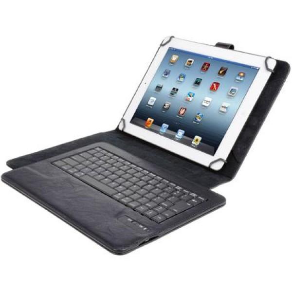 """Универсальный чехол книжка с клавиатурой для планшета 10"""", Bluetooth (Черный)"""