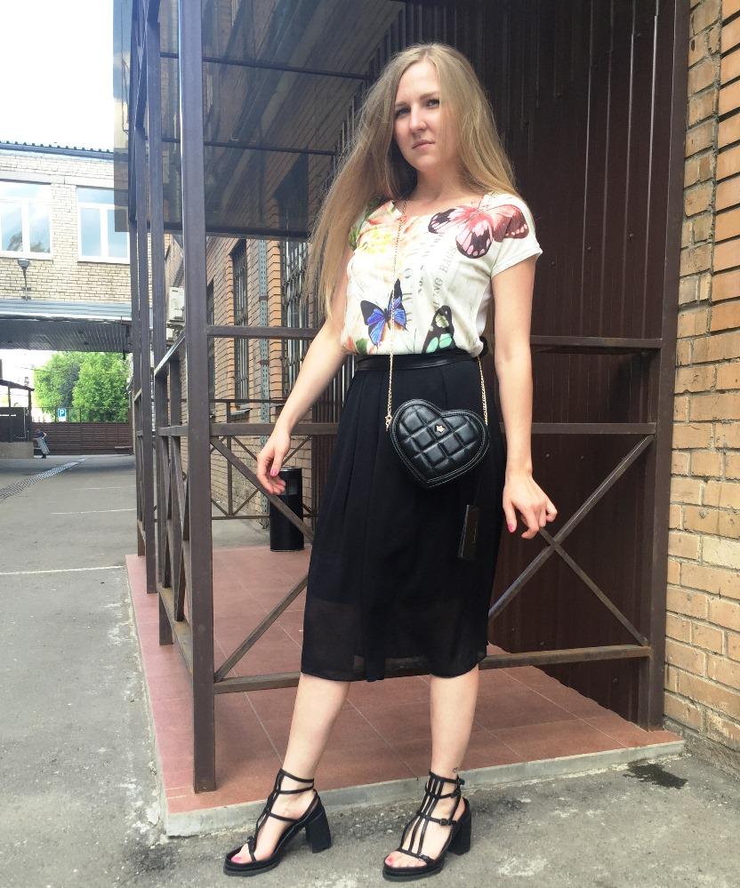 Стильная юбка черная