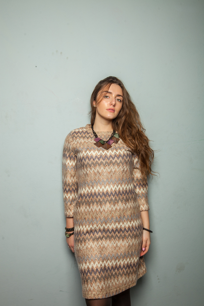 Стильное платье стилизация узором