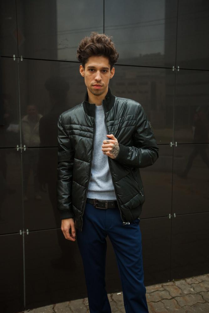 Стильная мужская черная куртка