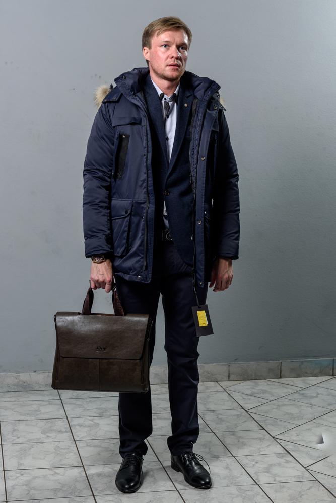 Стильная мужская синяя куртка модель 4