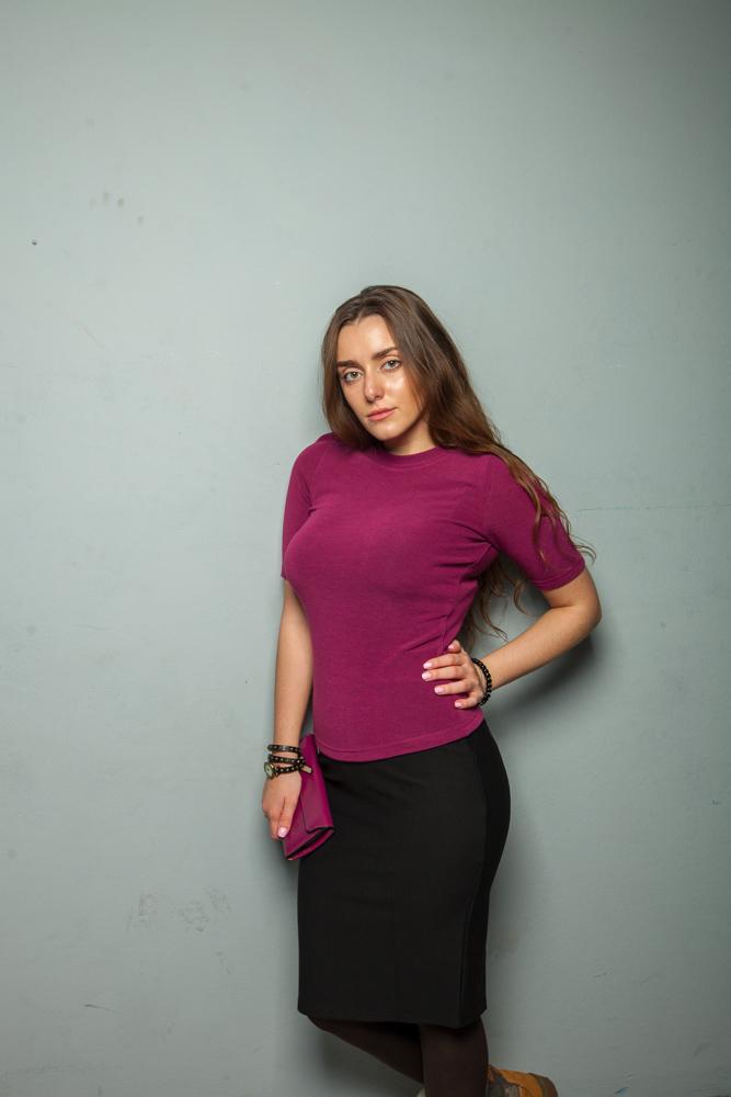 Стильная женская кофта фиолетовая